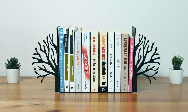 Ağaç Kitap Tutucu