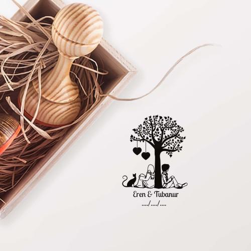 - Ağacın Altında Oturan Çift Mührü (KM-0453)