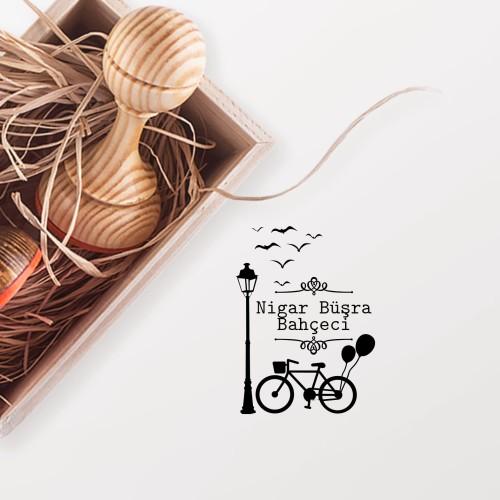 - Balonlu Bisiklet Mührü (KM-0287)
