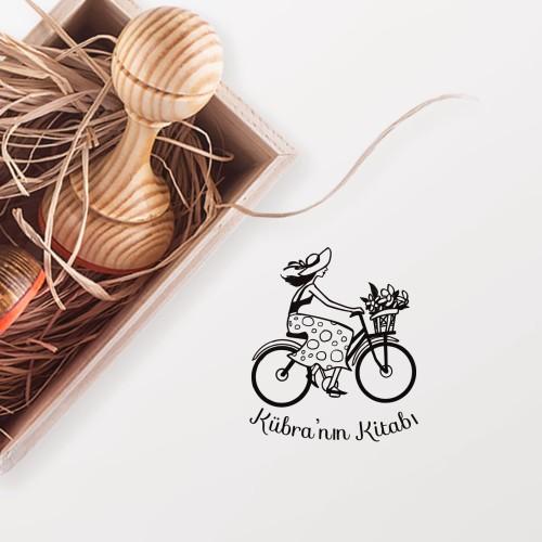 - Bisiklet Süren Kız Mührü (KM-0366)