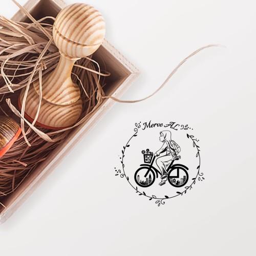 - Bisikletteki Kız Mührü (KM-0702)