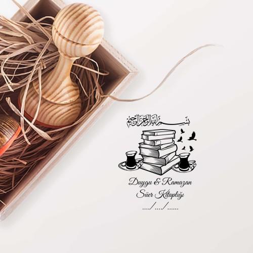 - Çay ve Kitaplar Mührü (KM-0556)