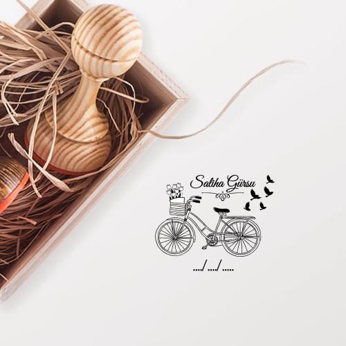- Çiçekli Bisiklet Mührü (KM-0327)