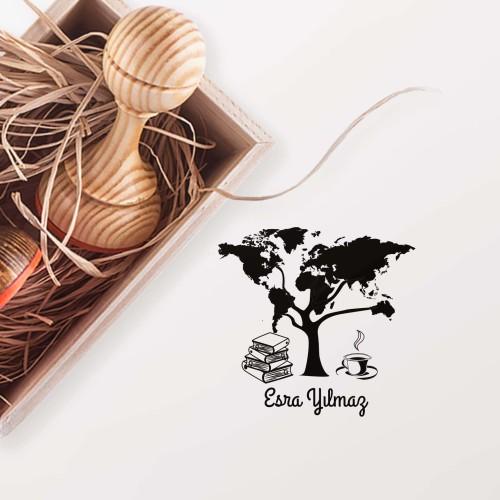 - Dünya Ağacı, Kitap ve Kahve Mührü (KM-0220)