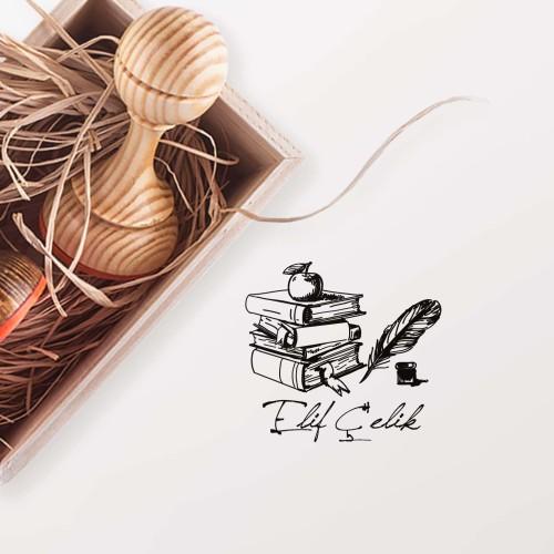 - Elma ve Kitaplar Mührü (KM-0384)