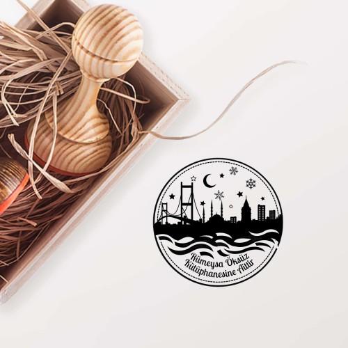 - İstanbulda Gece ve Kar Temalı Mühür (KM-0048)