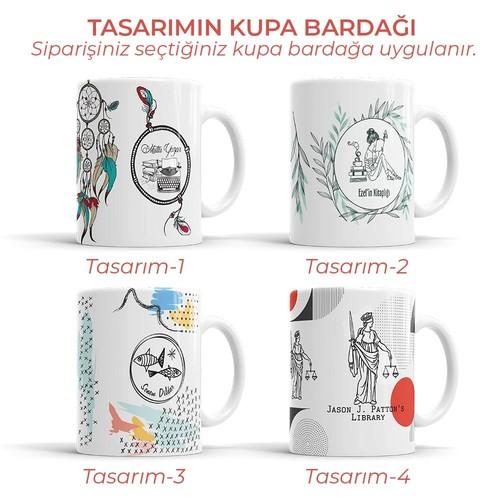 Kahve ve Kedi Mührü (KM-0039) - Thumbnail
