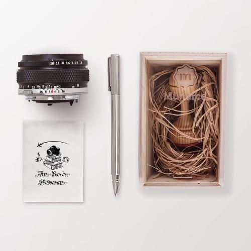 Kahve,Bavul, Fotoğraf Makinası Mührü (KM-0032) - Thumbnail