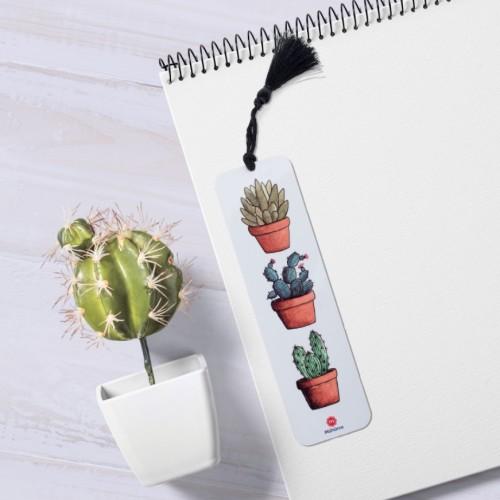 - Kaktüs Tasarımlı Kitap Ayracı