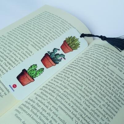 Kaktüs Tasarımlı Kitap Ayracı - Thumbnail