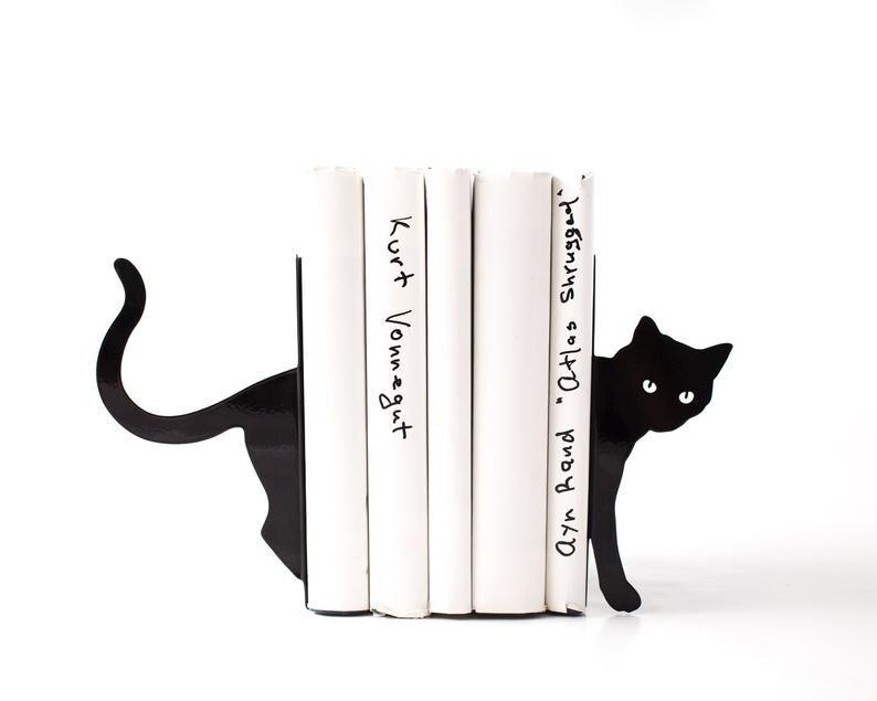 Kedili Kitap Tutucu
