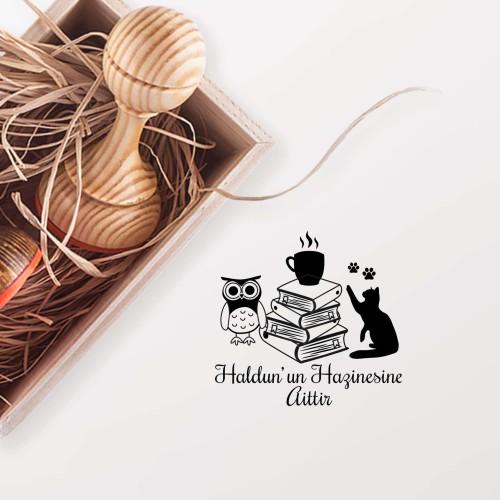 - Kedili ve Baykuşlu Kitaplar Mührü (KM-0196)