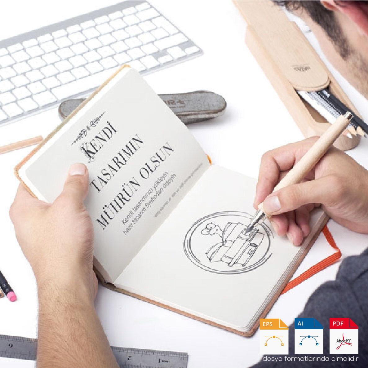 Kitap Mührü Kendi Tasarımım Var
