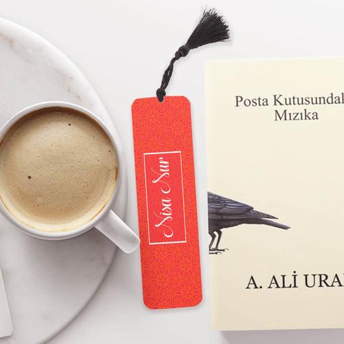 Kırmızı İsimli Kitap Ayracı - Thumbnail