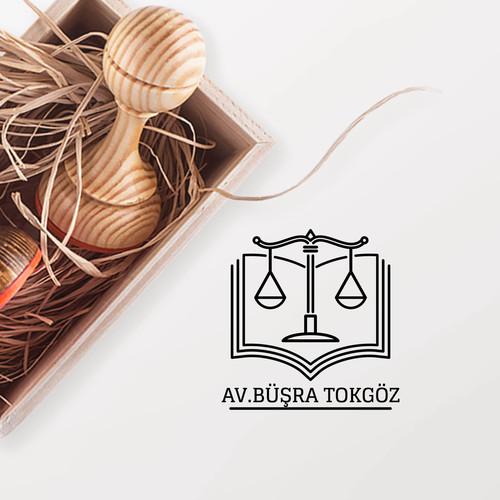 - Kitap & Terazi Avukat Mührü