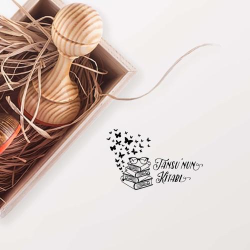 - Kitap Üzerinde Kelebekler Mührü (KM-0111)