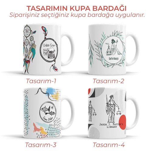 Kitapsever Baykuş Mührü (KM-0202) - Thumbnail