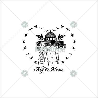- Kubbetüs-Sahra Önündeki Çift Mührü - Sevgili Mühürleri - Mühürce