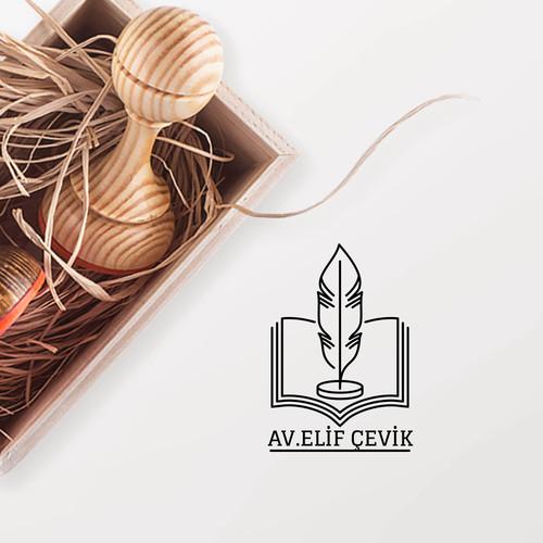 Kuş Tüğü ve Kitaplı Avukat Mührü - Thumbnail