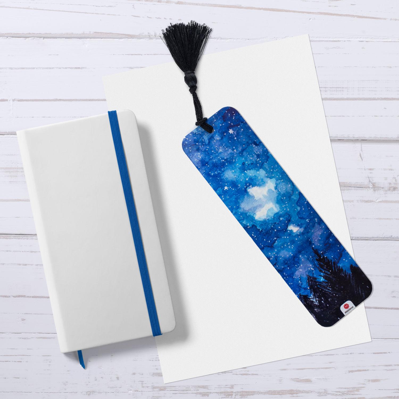 Kuzey Işıkları Mavi Kitap Ayracı