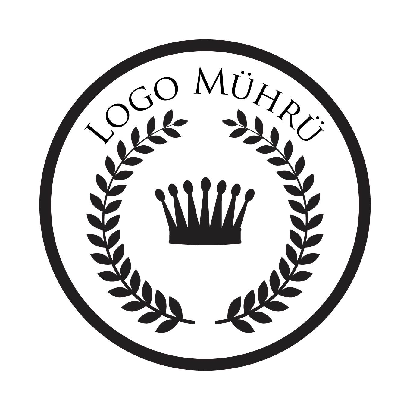 Logo Mührü Ahşap Mühür
