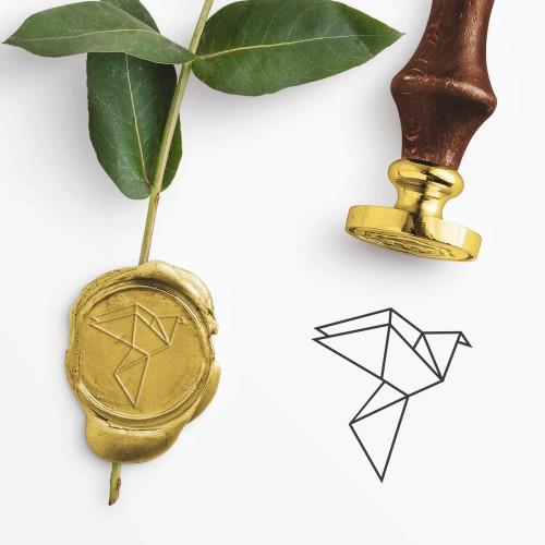 - Origami Kuş Mührü