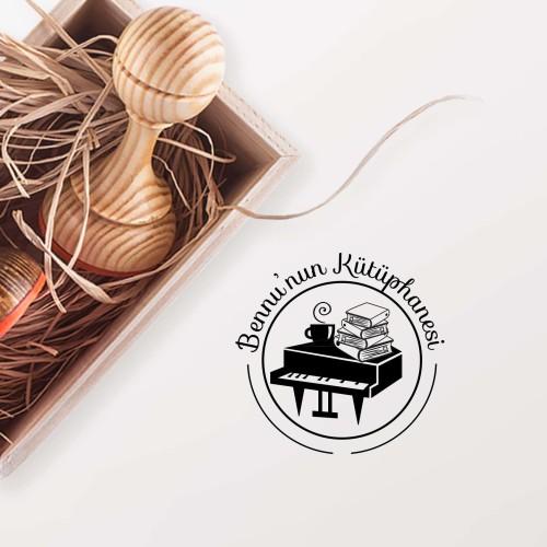 - Piyano ve Kahve Mührü (KM-0078)