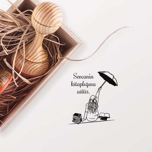- Şemsiyeli Kız Mührü (KM-0397)