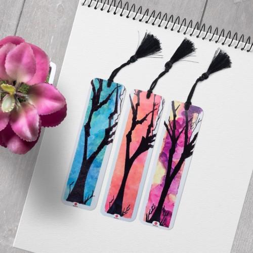 - Sonbahar Ağaçları 3lü Kitap Ayracı Seti