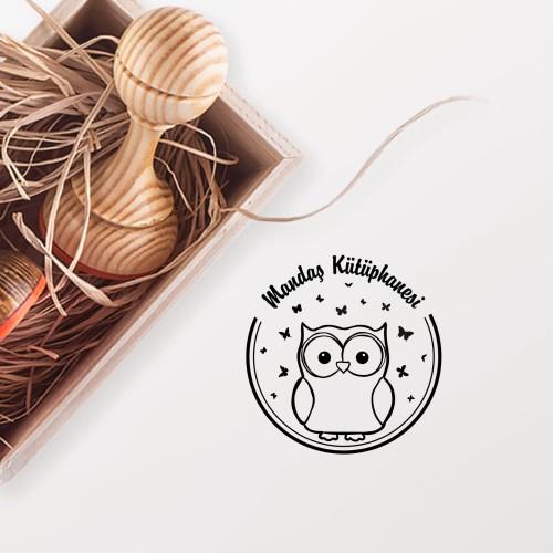 - Tatlı Baykuş ve Kelebekler Mührü (KM-0739)