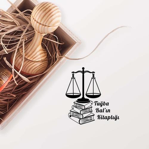 - Terazili ve Kitaplı Avukat Mührü (KM-043)