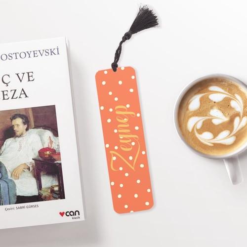 Turuncu İsimli Kişiye Özel Kitap Ayracı - Thumbnail