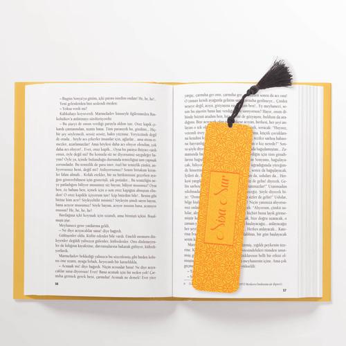 Turuncu İsimli Kitap Ayracı - Thumbnail