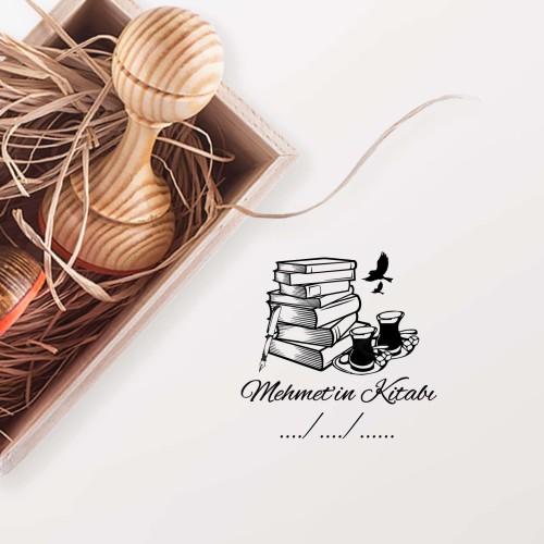 - Üst Üste Kitaplar Mührü (KM-0560)