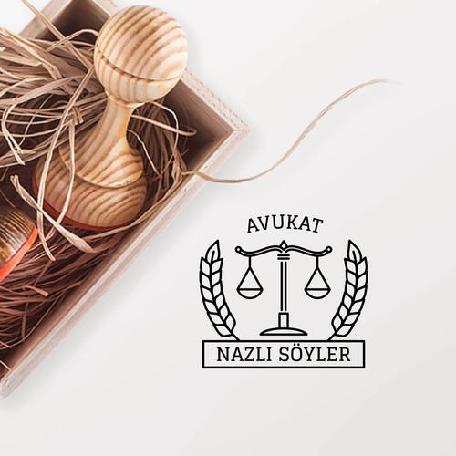 - Yaprak & Adalet Terazili Avukat Mührü